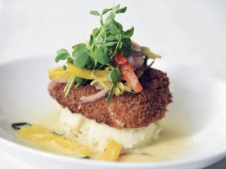 Equus' Parmesan Crusted Sea Bass