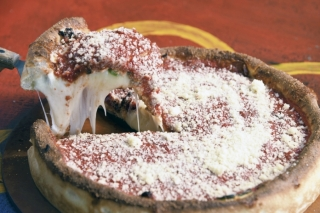 Lou Lou's Chicago-style deep dish pizza