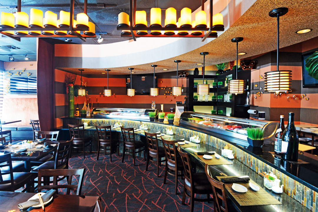 Arata Sushi's stylish Dining Room.