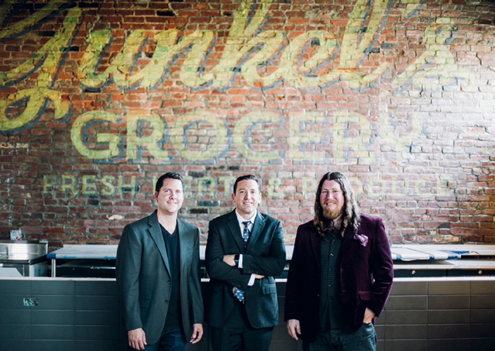 Butchertown Grocery owners (from left) Chef Bobby Benjamin, Jon Salomon and Patrick Hallahan
