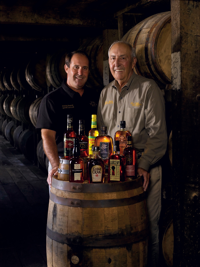 Co-master distiller for Heaven Hill, Craig Beam (left) with his now retired father, Parker Beam