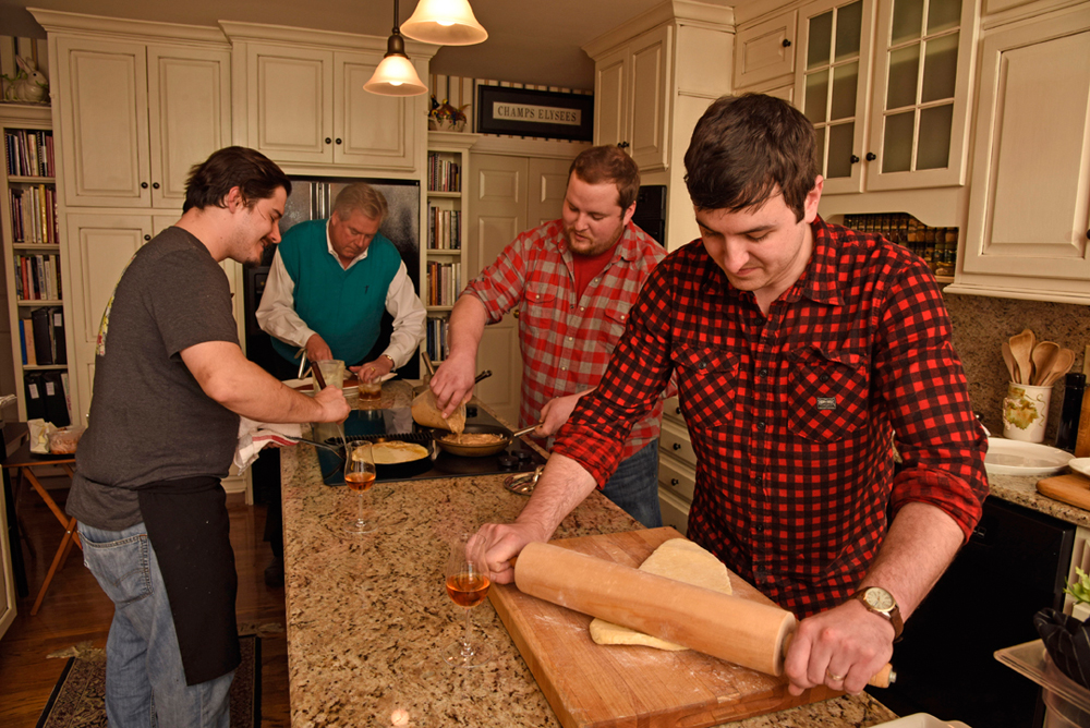 (above from left) La Chasse Chef Alexander Dulaney, Chef McClain Brown of Jack Fry's, LouVino Chef Tavis Rockwell and Tim Laird