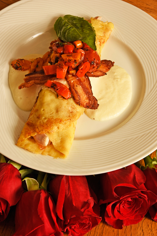 Hot Brown crepes