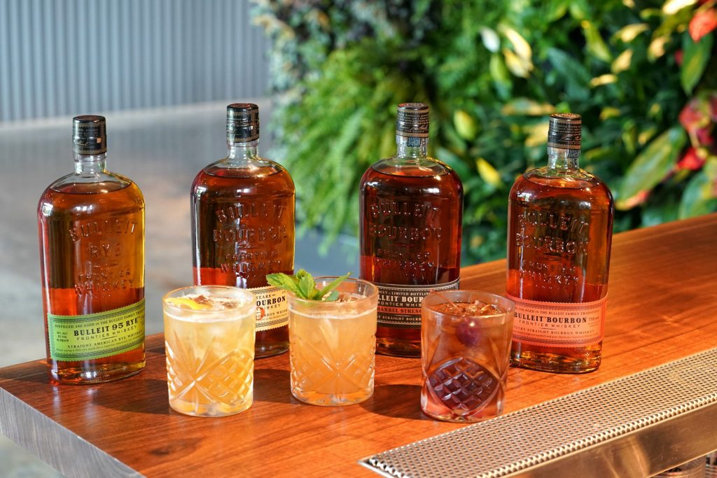 A selection of Bulleit bourbon