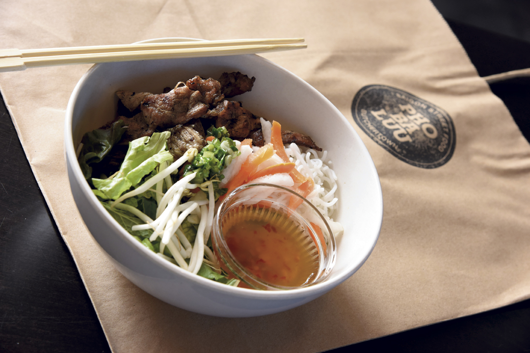Grilled pork vermicelli noodle bowl